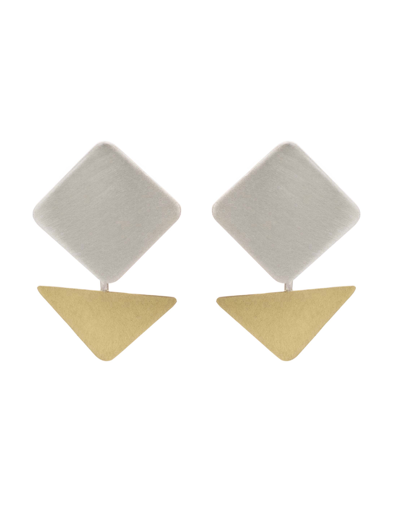 Aines Rhombus silver drop gold triangle E
