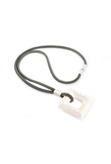 Industrial Jewellery DAKOTA tie square pendant N
