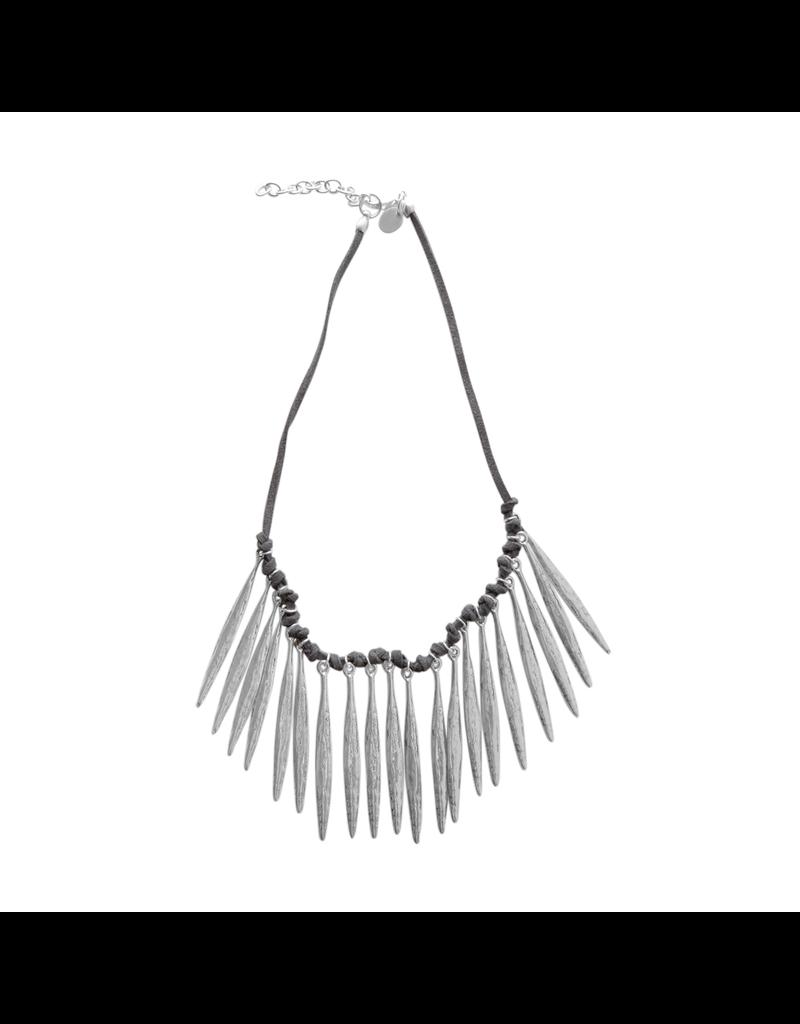 Carme Anglada Multi feather metal short N