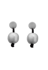Carme Anglada Small silver sprayed pearl E