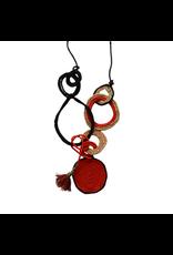 Kleopatra Cotton cord loop red black N