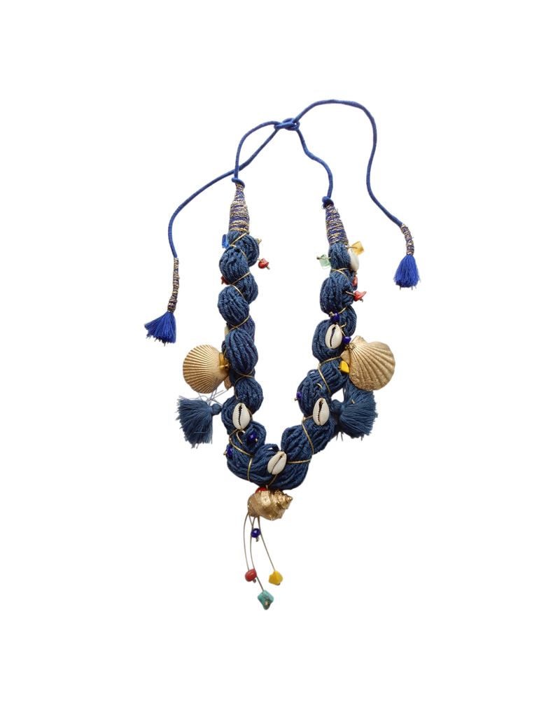 Kleopatra Shell mix blue gold string N