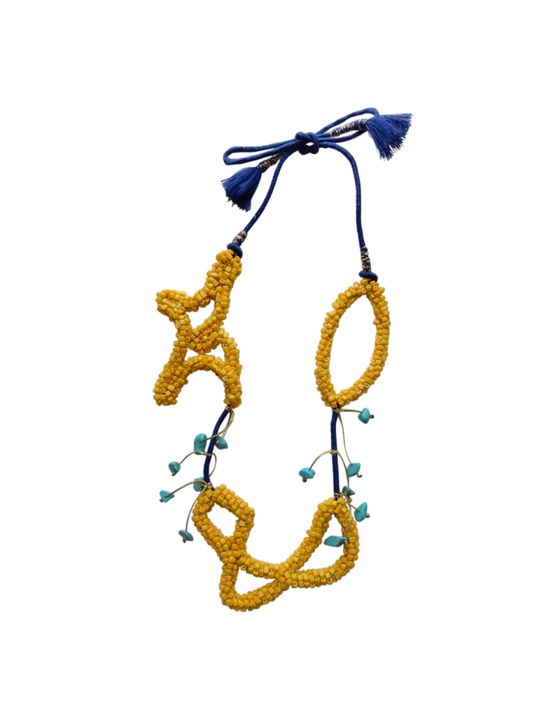Kleopatra Starfish yellow navy bead N