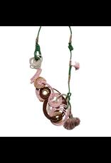 Kleopatra Cotton cord loop pink choc N