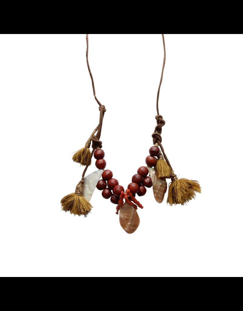 Kleopatra Chocolate wooden bead N