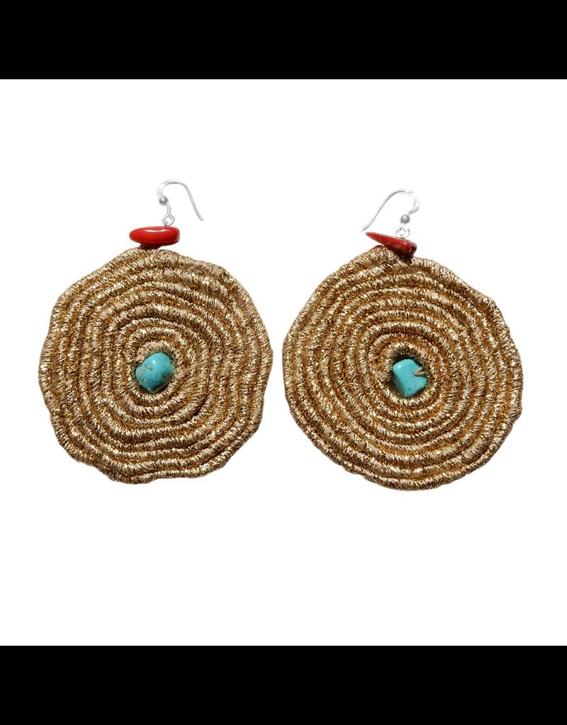 Kleopatra Cotton gold loop turquoise E