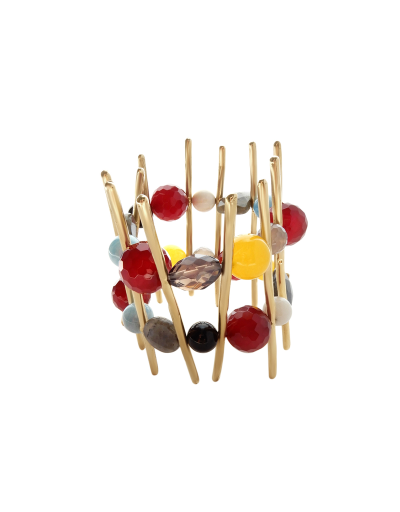 Iron by Miriam Nori Multicolour stone gold stick B