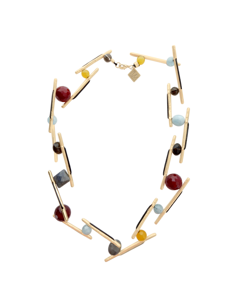 Iron by Miriam Nori Multicolour stone gold stick N