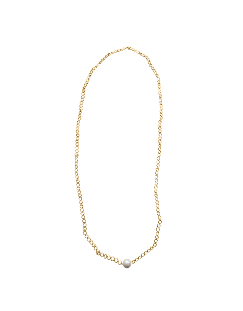 Iron by Miriam Nori Gold chain long pearl N