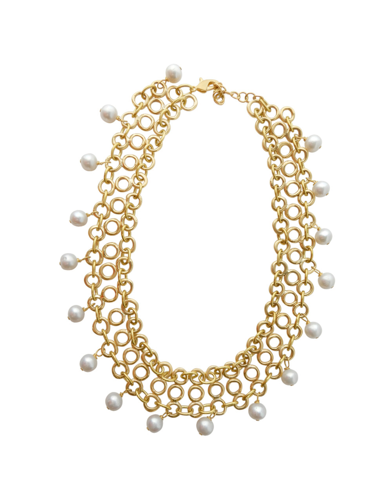 Iron by Miriam Nori Chain choker pearls N