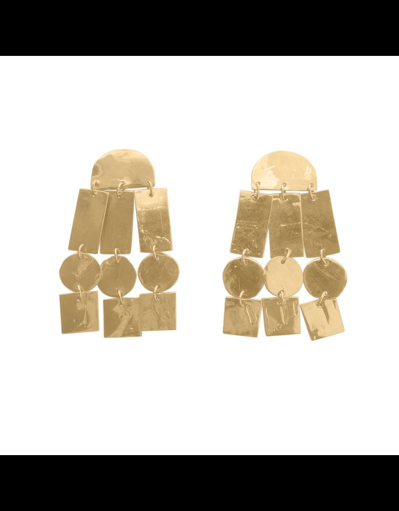 Iron by Miriam Nori Statement greometric gold element E