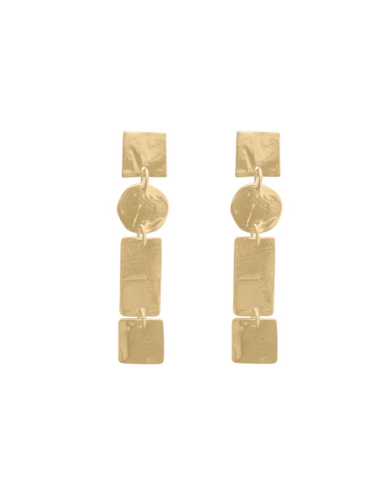 Iron by Miriam Nori Geometric element gold bronze drop E