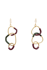 Iron by Miriam Nori Shape circle interlock pendant multicolor E