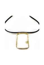 Iron by Miriam Nori Rectangle bronze pearl N