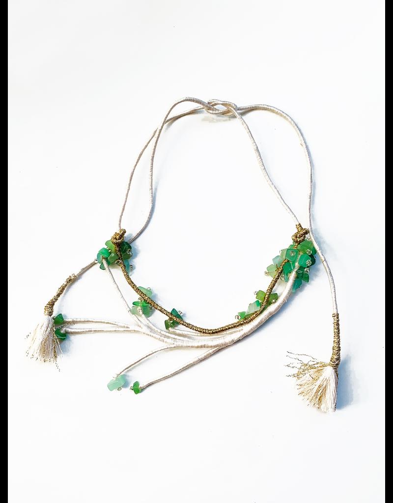 Kleopatra Green stone cotton stick N