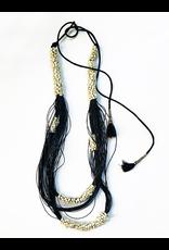 Kleopatra Black white bead string N