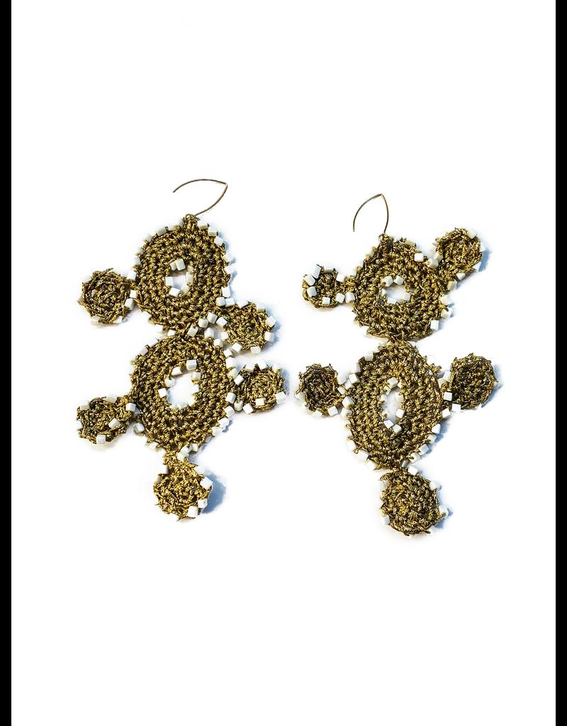 Kleopatra Gold white crochet steps E