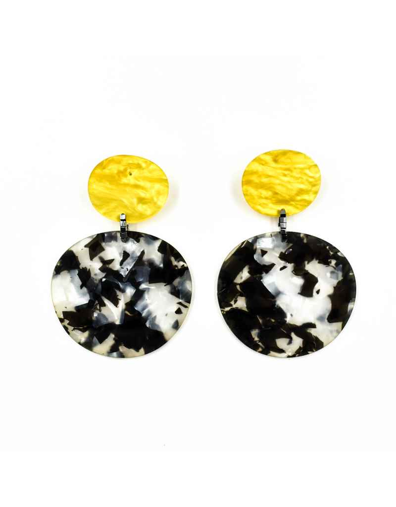 Christina Brampti Disc metallic square beads E