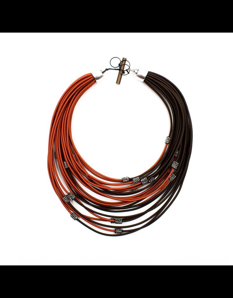 Christina Brampti Layered crystal cord N