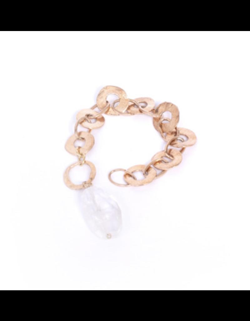 Iron by Miriam Nori Circle links crystal drop B