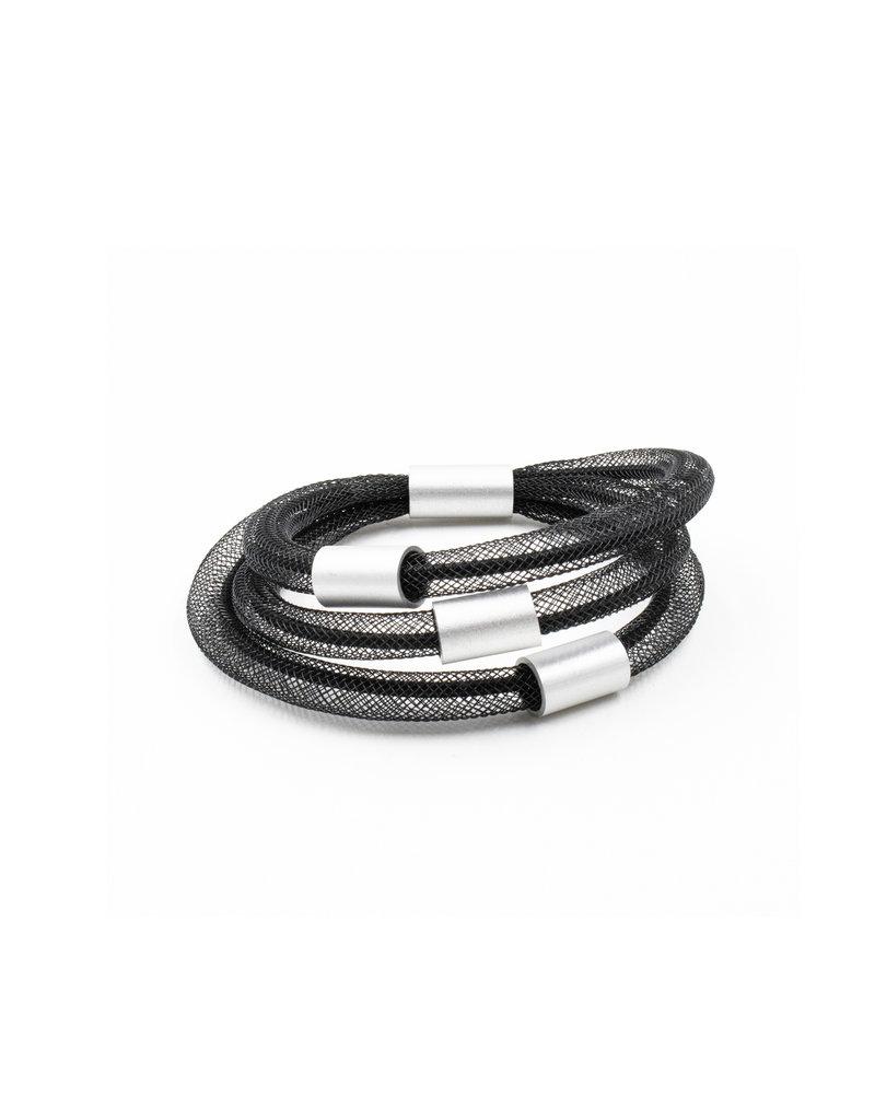 Christina Brampti Mesh cord aluminum B