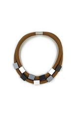 Christina Brampti Aluminium rectangle two rope magnet N