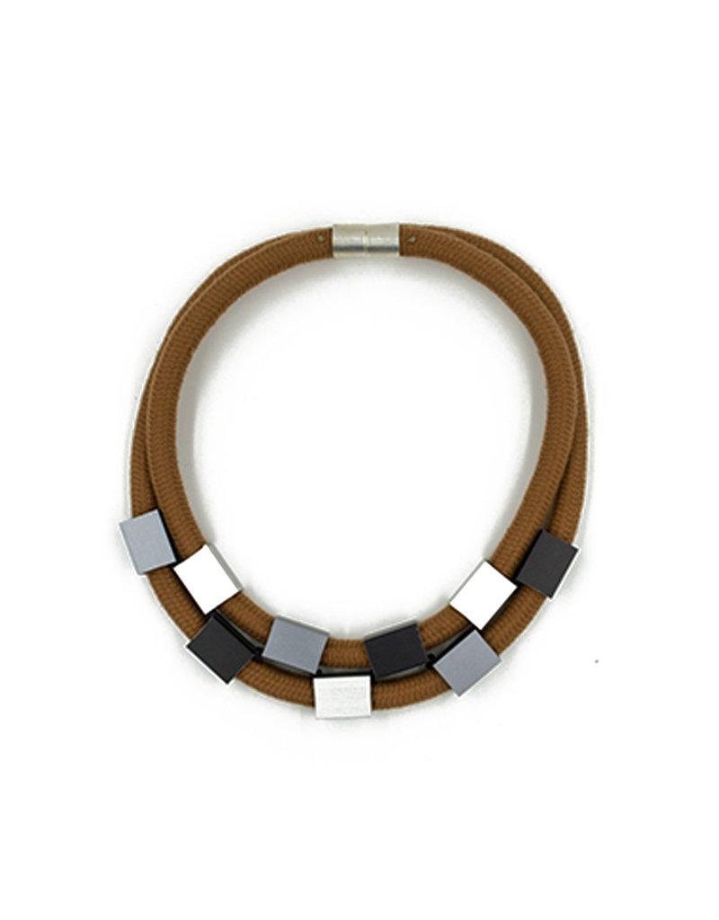 Christina Brampti Aluminum rectangle two rope magnet N