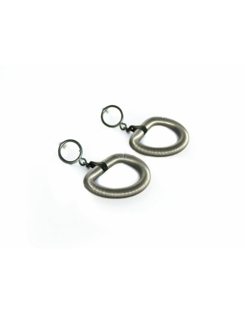 Industrial Jewellery PAIGE D shape steel E