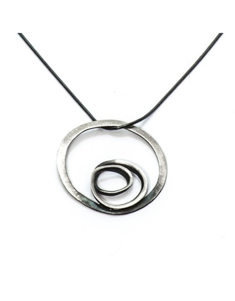Aines LABERINTO oxi silver chain silver circle N