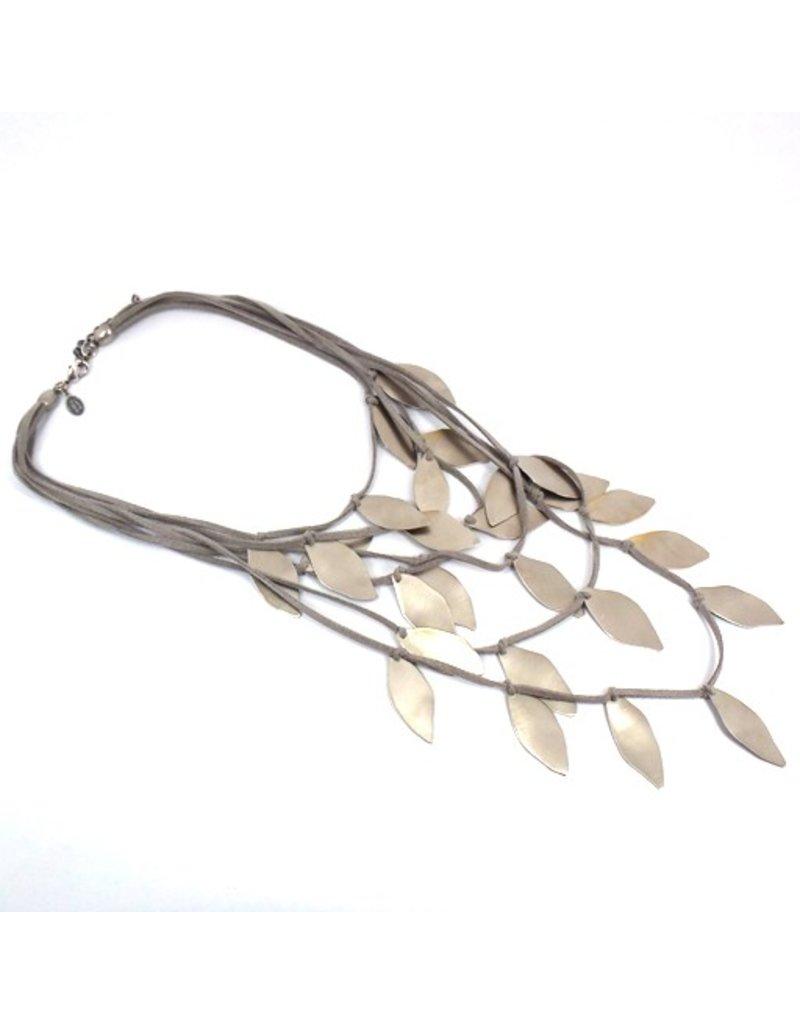 Carme Anglada Large metal leaf N