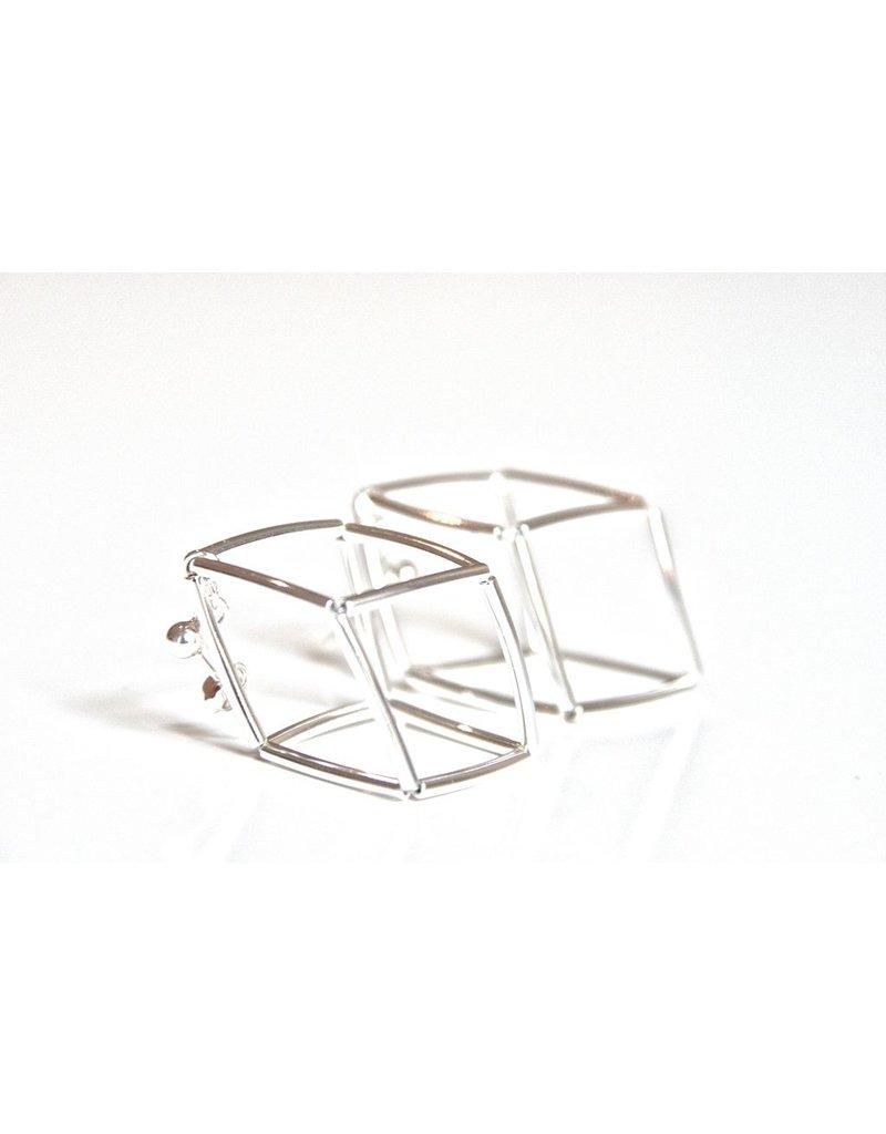 Materia Design GEOMETRIA cube silver plated brass tubes E