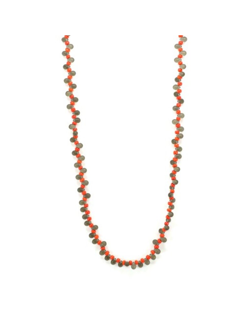 Jolly GOCCE C 5 small two colour glass bead long N