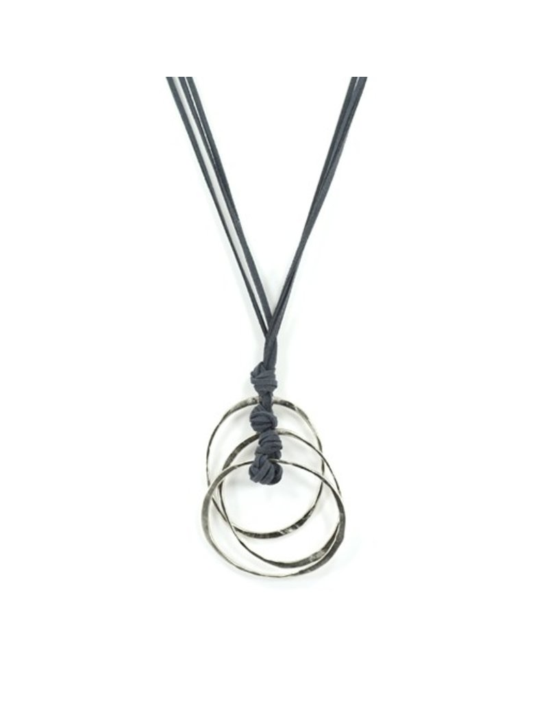 Carme Anglada 3 loop drop long pendant N