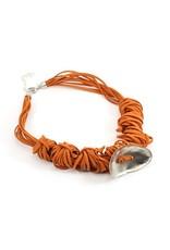 Carme Anglada Metal shell suede knot N