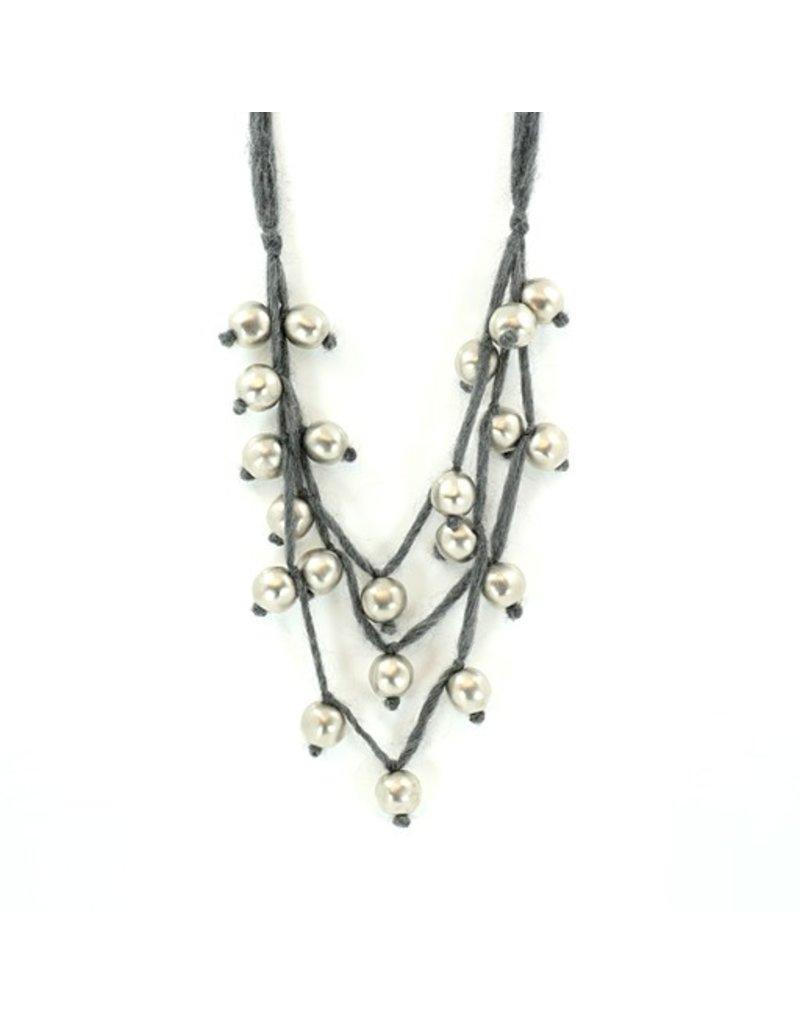 Carme Anglada Multi strand silver bead N