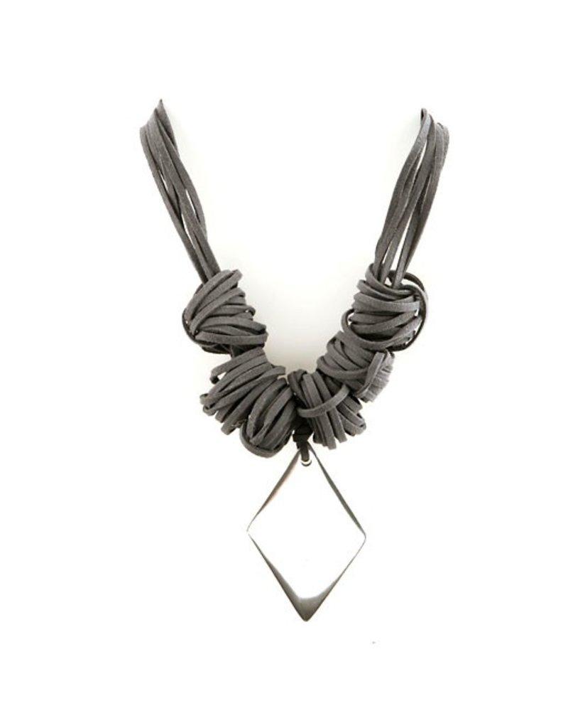 Carme Anglada Grey triangle metal pendant N