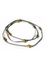 Industrial Jewellery JOAN suede coil N