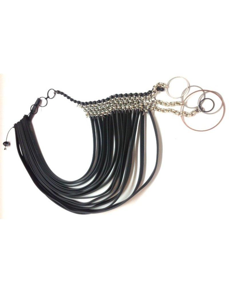 Christina Brampti PVC strips metal circle chain short N