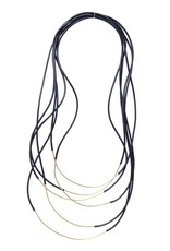 Iron by Miriam Nori GEOMETRIE brass PVC multi string N
