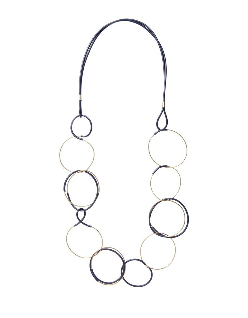 Iron by Miriam Nori GEOMETRIE brass PVC long circle N