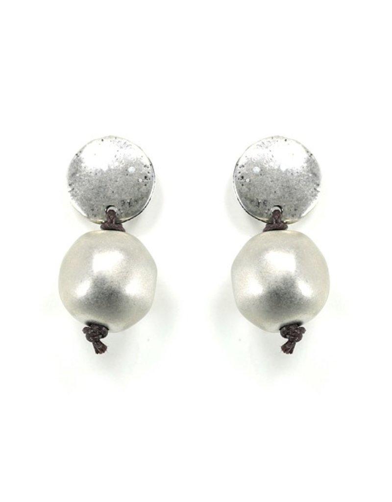 Carme Anglada Small silver drop ball E