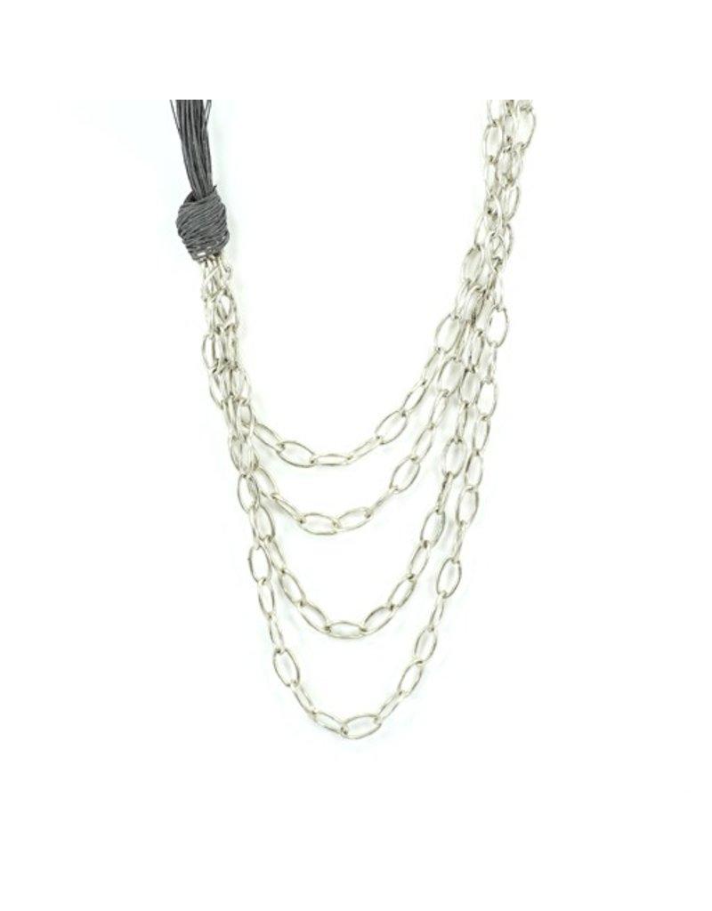 Carme Anglada Linen silver chain know N