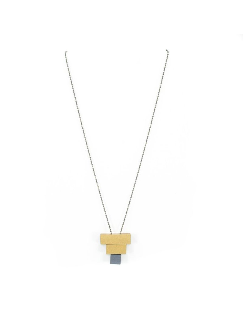Christina Brampti Aluminium small rectangle pendant long N