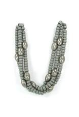Carme Anglada Grey brad silver oval short N