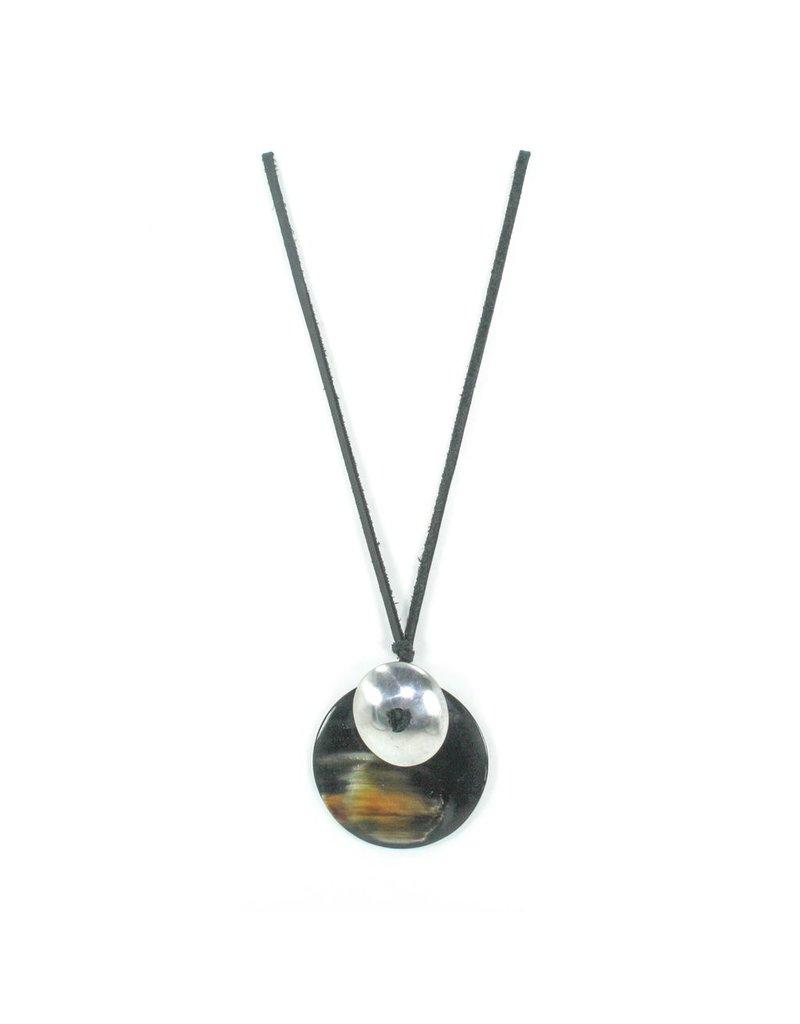 Carme Anglada Two circle pendant long N