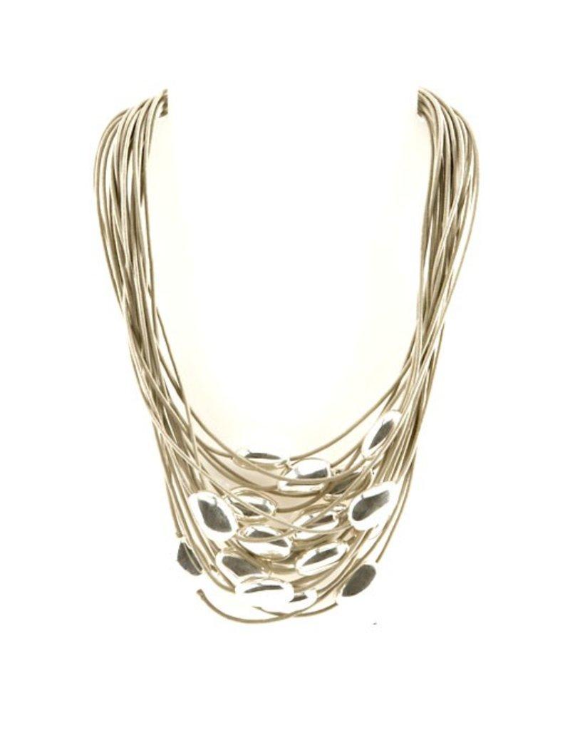 Carme Anglada Cotton silver short bead N