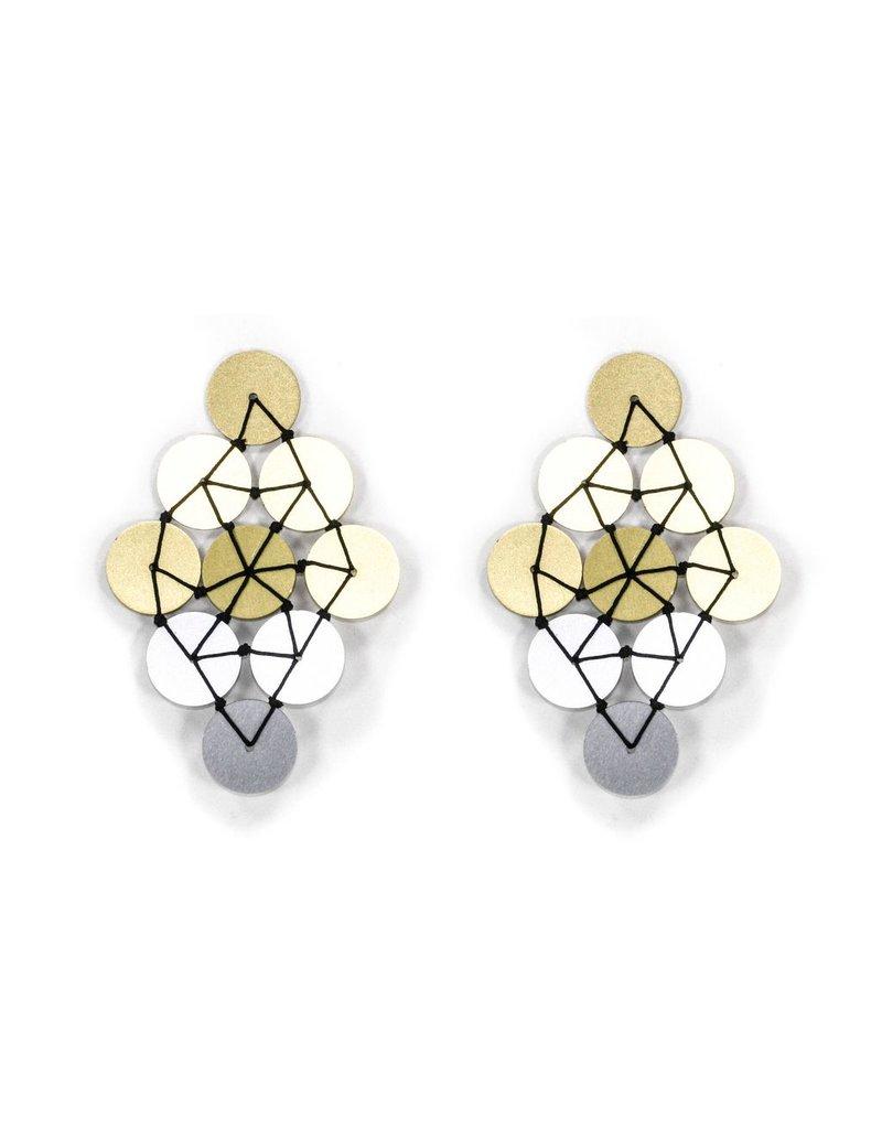 Christina Brampti Aluminium diamond two colour circle E
