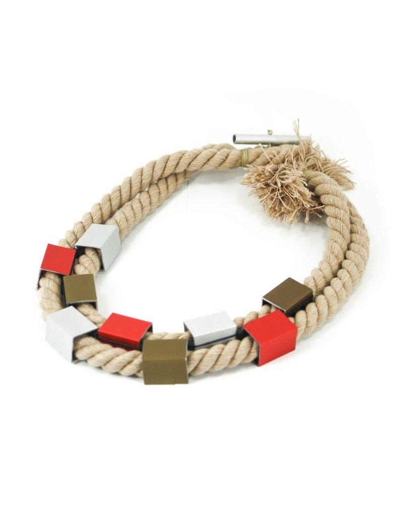 Christina Brampti Aluminium square rope short N