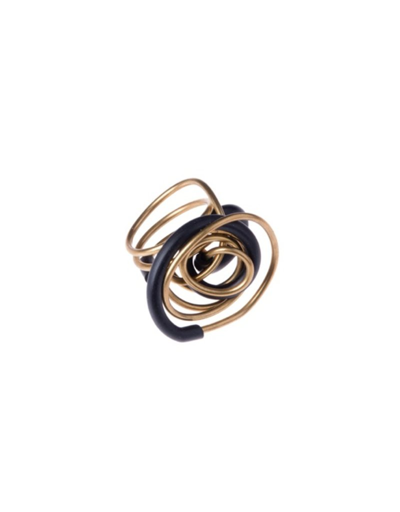 Iron by Miriam Nori GEOMETRIA rubber brass twisted R