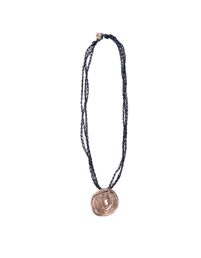 Iron by Miriam Nori ROSE bronze leather pendant N